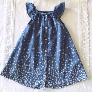 GAP denim chambray stars button up dress